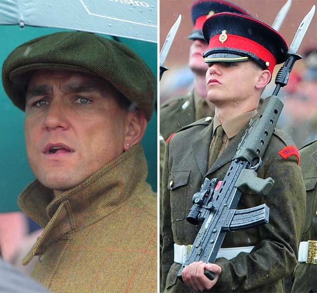 Vinnie Jones Watches His Son Junior Soldier Aaron Ellison Jones During His Passing Out Parade In Harrogate 2008 08 14 Vi Vinnie Jones Jones Watch Soldier