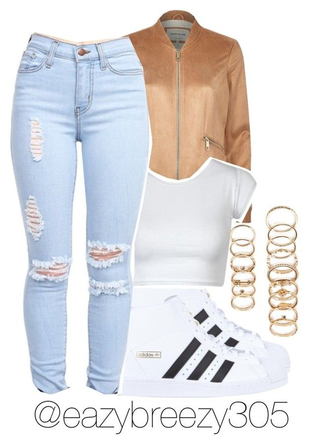 #adidas by eazybreezy305 on Polyvore featuring polyvore, fashion, style, River Island, adidas Originals, Forever 21, women's clothing, women's fashion, women, female, woman, misses, juniors, adidas, Trendy, schoolstyle and 2016