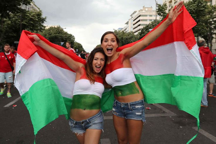 Hungarian fans cheer for their national team before the Euro 2016 Group F soccer match between Iceland and Hungary at the Velodrome stadiumin Marseille, France, Saturday, June 18, 2016. (AP Photo/Claude Paris)/XTS107/995321198747/1606181616