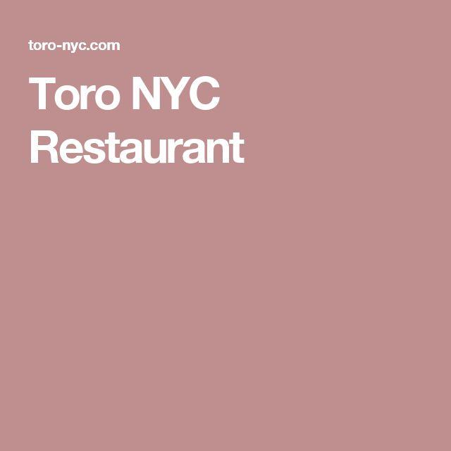 Toro NYC Restaurant
