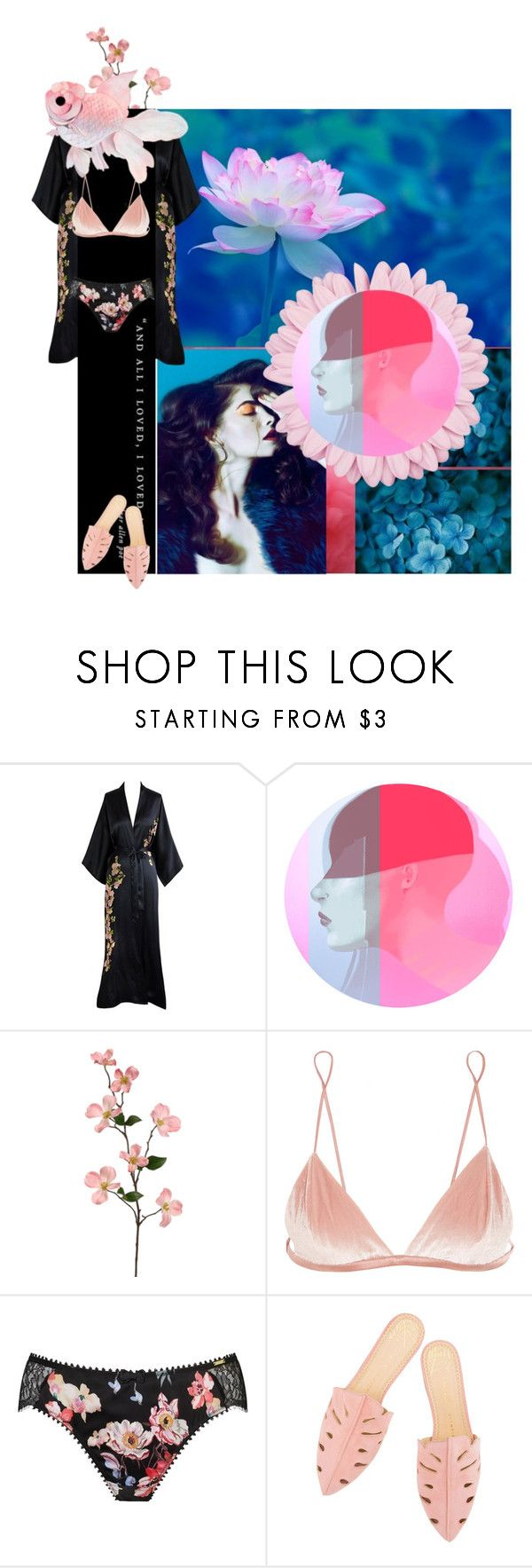 """Down Under"" by kayci ❤ liked on Polyvore featuring Fleur du Mal, Somerset by Alice Temperley and lingerie"