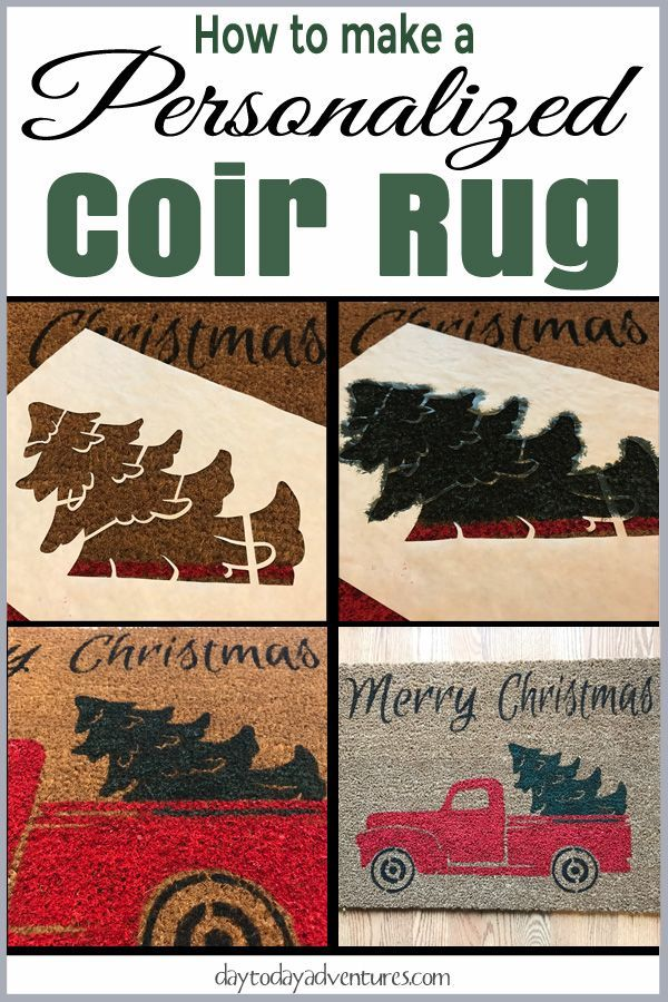 How to make a personalized coir rug using freezer paper and paint!