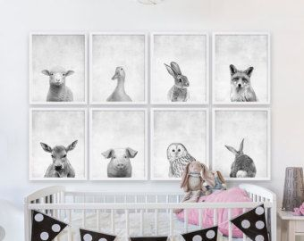 Set of Three Baby Animal Prints Nursery Art Prints by CocoAndJames