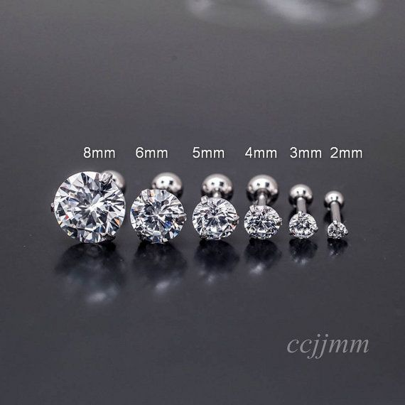 triple helix earring cartilage earring tragus earring by CCJJMM