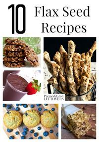 10 Great Flax Seed Recipes, including how to use flax seed as an egg substitute, flax seeds in baked goods and other flax seed recipe ideas.