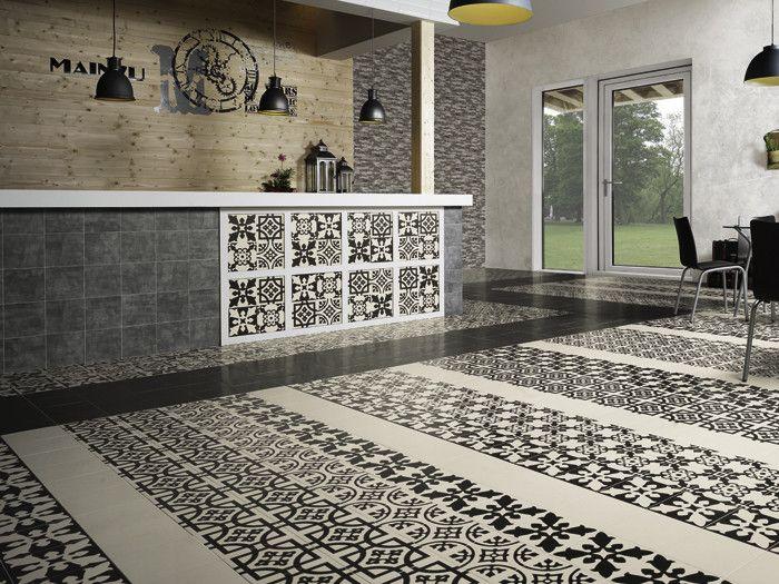 #Mainzu #Bulgary Centro Sofia Black 20x20 cm | #Keramik #Dekore #20x20 | im Angebot auf #bad39.de 45 Euro/qm | #Fliesen #Keramik #Boden #Badezimmer #Küche #Outdoor
