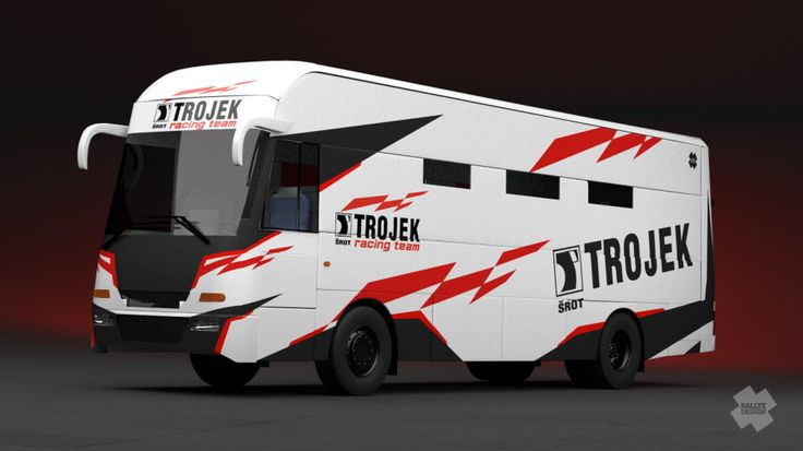 Trojek Racing - team bus for season 2013.