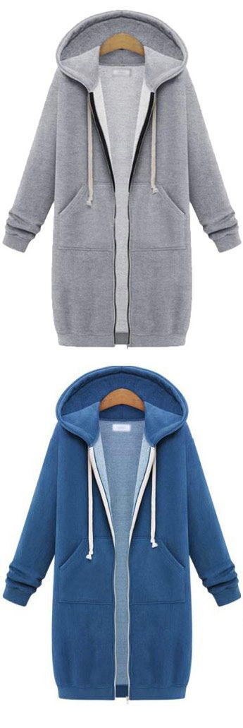 Busy with life as time goes by, sometimes you need such a relaxing sweatshirt! Interested in the casual trends for the whole winter? Long hooded sweatshirts come for you at CUPSHE.COM
