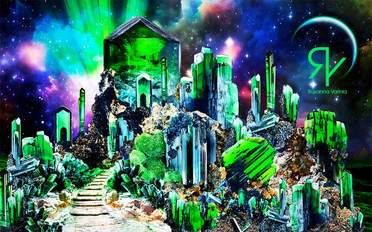 • Crystal City •  #digitalart #digitalartist #digitalartwork #digitalarts #photoshopart #photoshop #soulart #soullage #soulcollage #soul #emotions #emotional #spiritualart #spirituality #spiritual #spiritueel #collageart #crystal #crystals #emerald #saphire #saphire #city #skyline #fantasy #fantasyworld #auroraborealis #aurora
