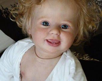 Piezas de KIT Reborn vinilo muñeca bebé AMELIA 10 meses por Donna Rubert 4251 realista
