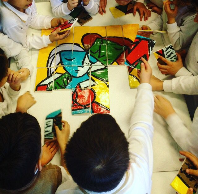 Picasso project made clay.. 2  #clay #school #madebylittlehands #picasso #kids #project