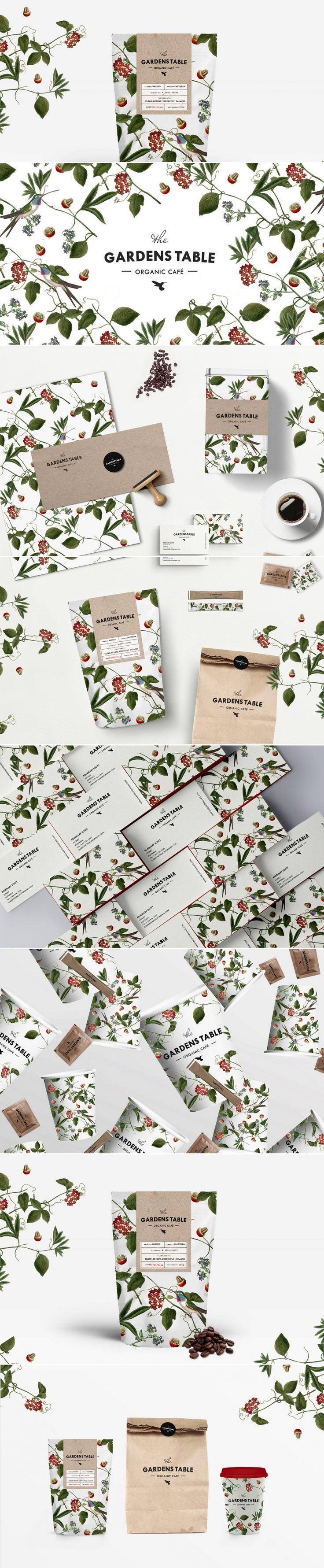 The Gardens Table organic café — The Dieline | Packaging & Branding Design & Innovation News