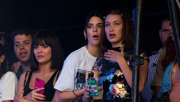 Kylie Jenner Sizzles In Sexy Getup While Cheering On Travis Scott At Concert With Bella and Kendall: #travisscott #kyliejenner