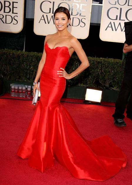 red strapless mermaid dress - FAB