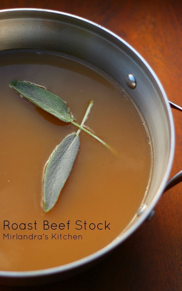 Enjoy this flavorful and easy roast beef stock all winter long.  It's a great base for soups or simple food when you are sick.  This is a bone broth that won't stink up the entire house when you cook it!  The only smell is that of roasting beef - yum!