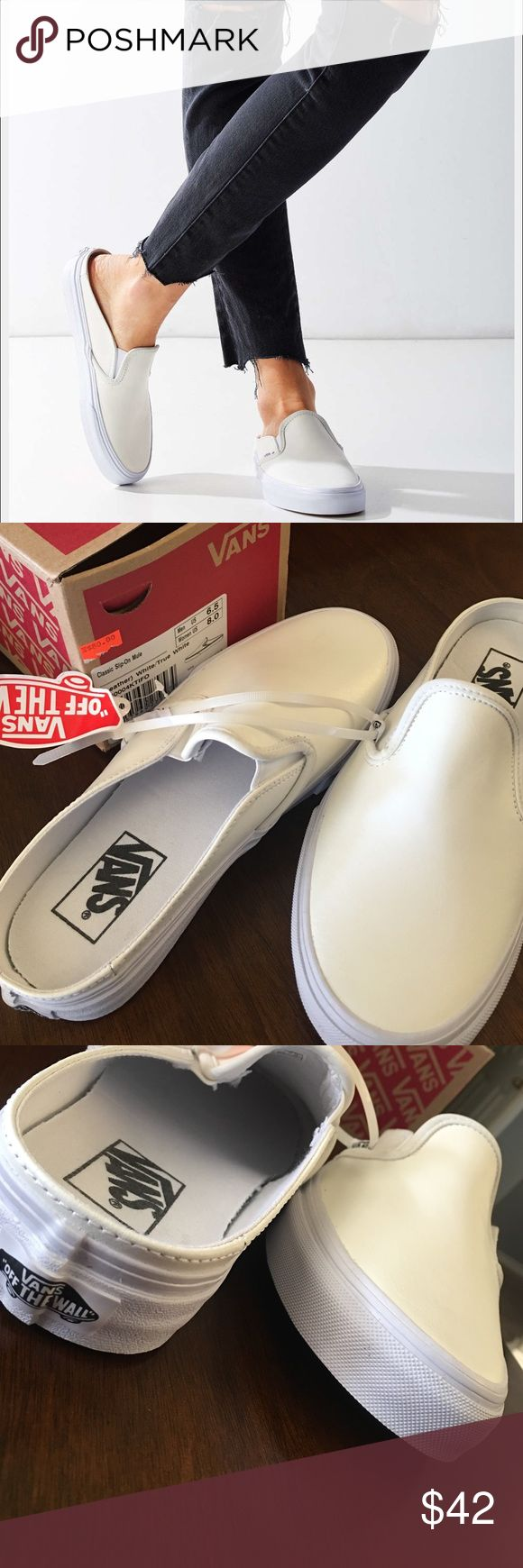 Vans mule one day sale Brand new shoes white must have ✨ Vans Shoes