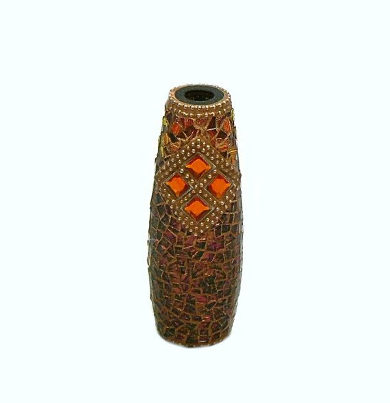 Mosaic Vase / Copper Vase / Rust Vase / by InspirationsByKathyW