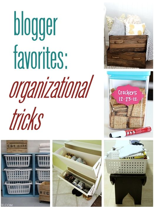 blogger favorites: organizational tricks. Good idea for pantry organization, if I ever have a walk-in pantry.