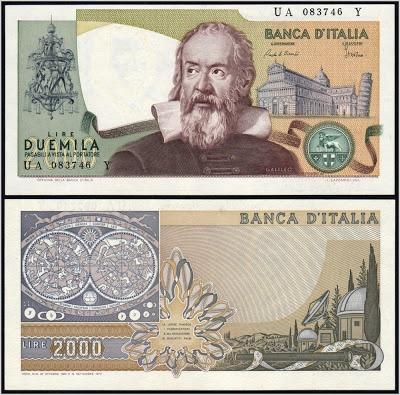 Collezione Personale di Banconote Italiane: 0.1.5. - 2000 LIRE GALILEO