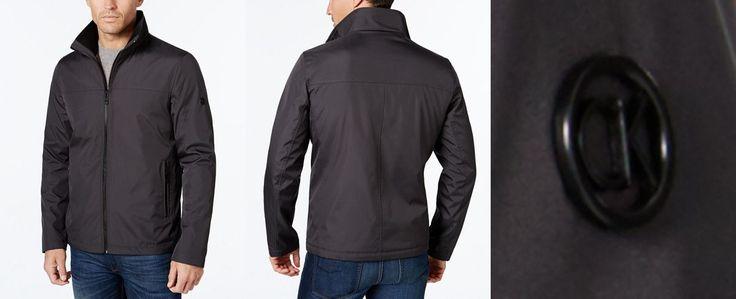Calvin Klein Men's Big & Tall Lightweight Full-Zip Stand-Collar Jacket - Coats & Jackets - Men - Macy's