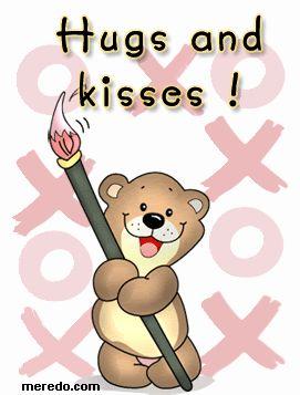 Hugs & Kisses friendship glitter hugs friend friend quote graphic friend animated