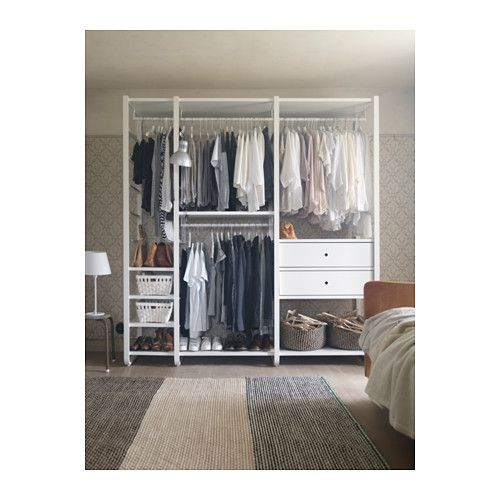 elvarli 3 elemente wei elemente ikea und begehbarer kleiderschrank. Black Bedroom Furniture Sets. Home Design Ideas