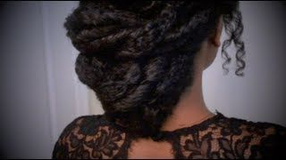 natural curly updo hairstyles - YouTube