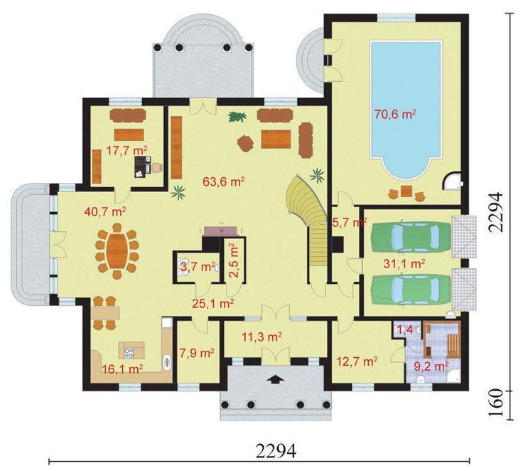 DOM.PL™ - Projekt domu PT Virginia SZKIELET DREWNIANY CE - DOM PT9-69 - gotowy projekt domu
