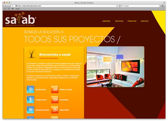 Abstra Estudio Creativo | Sayab Web