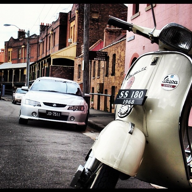 Italian design on Australian roads. This was clicked in Sydney at an area called 'the rock' which is like a mini Europe