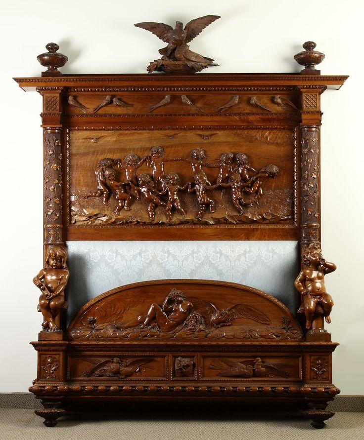 Best antiques bedroom furniture images on pinterest