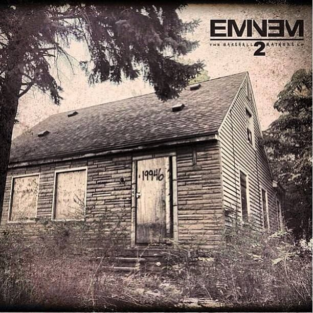 Eminem's Marshall Mathers LP2 wins the Grammy for Best Rap Album.