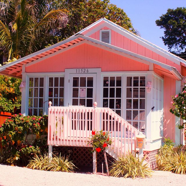 Old Florida, pink house | Flickr - Photo Sharing!