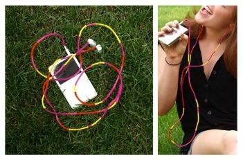 wrapped headphones