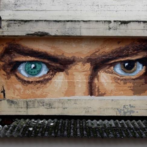 "Big Ben, ""The eyes of David"" in Lyon, France, 2016"