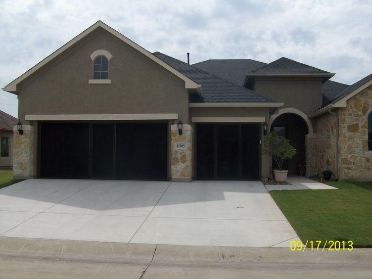 Our first double garage door screen 16 x 7 and 8 x 7 brown for 12x8 garage door