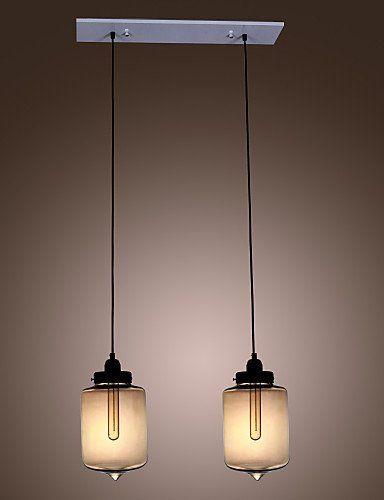 XXTT Modernen Glas Pendelleuchten Mit 2 Lampen In Transparenten Flaschen Design 220