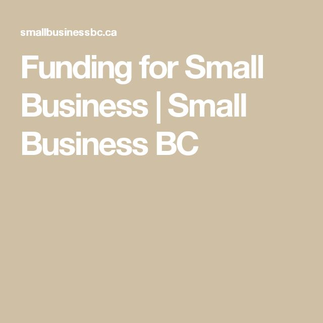 Funding for Small Business | Small Business BC