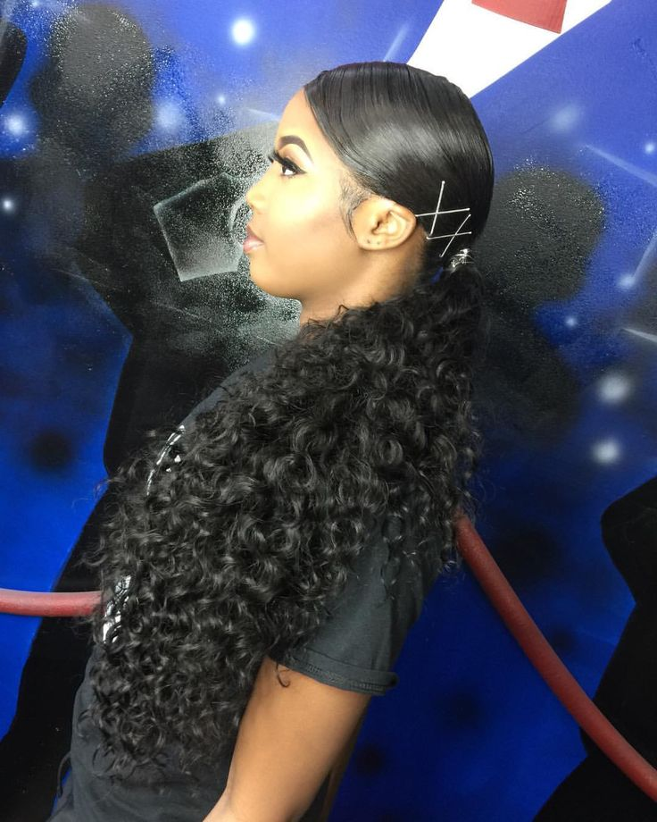 """147 Likes, 1 Comments - Armani Renee' Hairstylist MUA (@theerealarmani) on Instagram: """"Extended ponytail 😍 👑 Want the experience? book your appointment on my website link in bio…"""""""