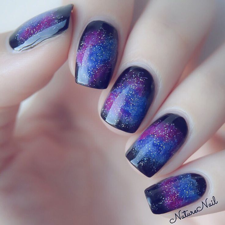 Galaxy nails follow me on snapchat - NatureNail   Here's my mani for Ella's birthday ❤️ hope you have an amazing day so glad that I've met you and know you! You're such a sweet person, and I love your accent  thanks @vendelanails for inviting me to this!   #hbdellaberlin_nails