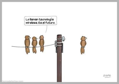 Sin hilos (wireless).