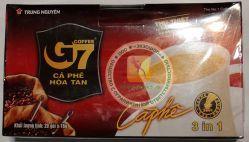 Trung Nguyen Coffee G7 3 in 1 - быстрорастворимый натуральный вьетнамский черный кофе - 20 пакетиков в упаковке - 320 гр.