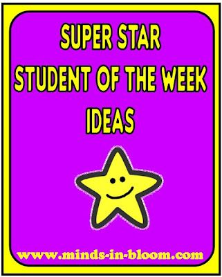 Ideas for Student of the Week, Super Star, VIP etc. at Minds in Bloom