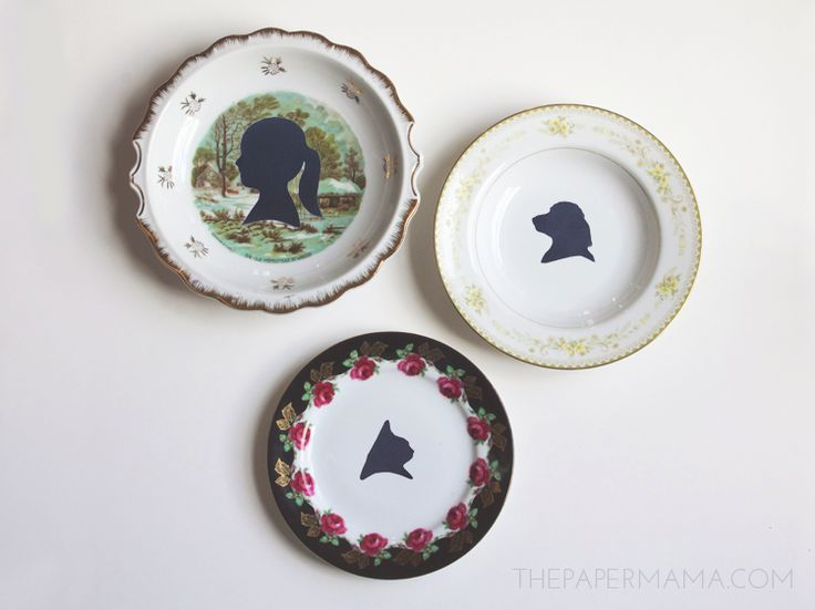 How to create pretty silhouette plates