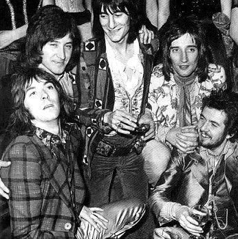 Faces, featuring Rod Stewart, Ron Wood, Kenny Jones who later joins The Who, Ian McLagan, Ronnie Lane
