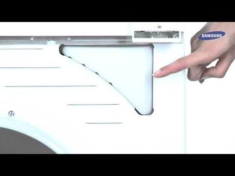 Sèche-linge à condensation Samsung : raccorder le tuyau de vidange à la conduite d'évacuation - YouTube