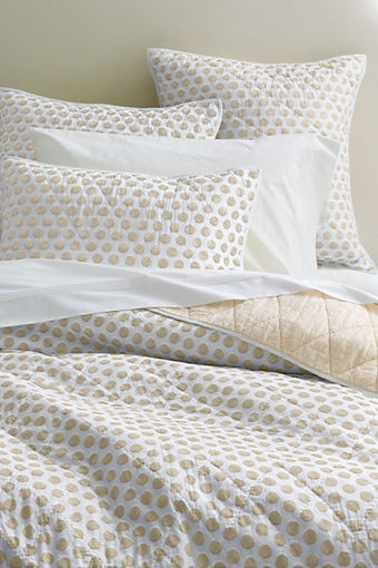 Danbury Dot Quilt from Lands' End - would look good with pale blue walls.