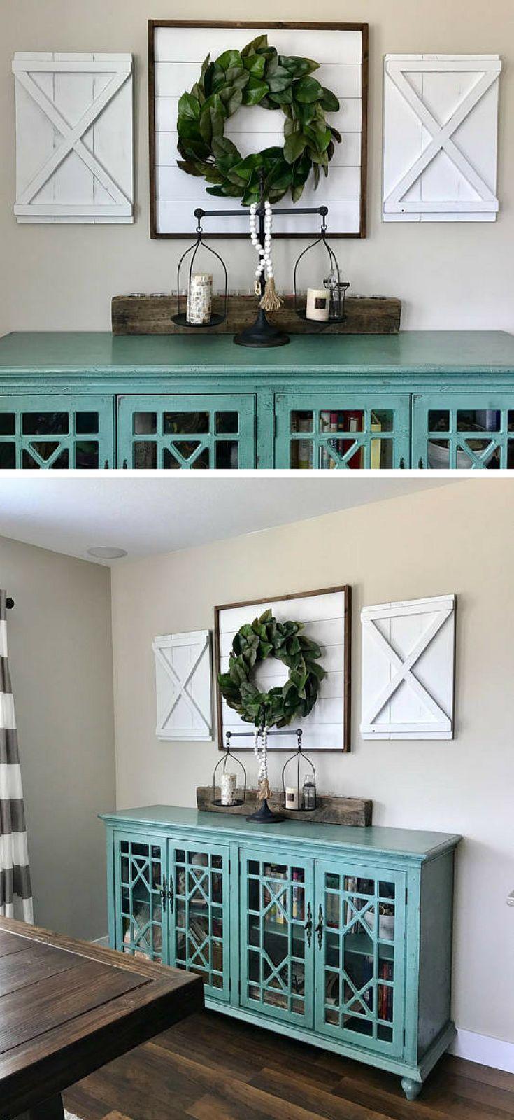 Pair of Large Decorative X Wood Shutters. Rustic shutters. Farmhouse shutters. Shutter decor. Barn doors. Interior shutters. Wreath holder, Farmhouse wall decor, Rustic decor #ad