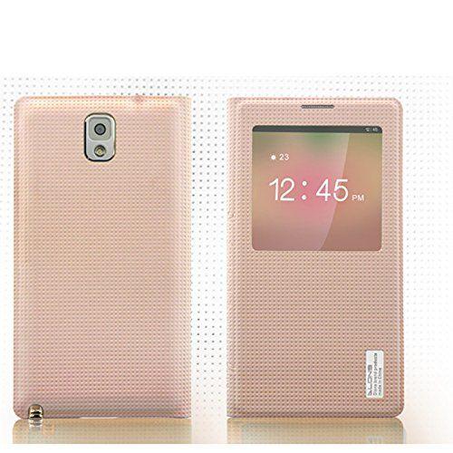 DLONS® Premium Ultra Delgado Voltear Folio PU Cuero Ver Ventana Smart Carcasas Batería Espalda Funda Para Samsung Galaxy Note 3 III N9000 N9005 - Rosa - http://www.tiendasmoviles.net/2017/07/dlons-premium-ultra-delgado-voltear-folio-pu-cuero-ver-ventana-smart-carcasas-bateria-espalda-funda-para-samsung-galaxy-note-3-iii-n9000-n9005-rosa/