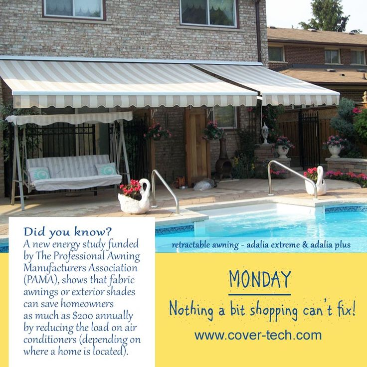 """Retractable Awning -  Adalia Extreme, Extenda, Plus etc. """"MONDAY - Nothing a bit shopping can't fix!"""""""